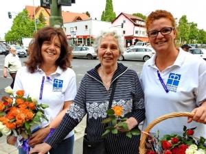 """Mitarbeiterinnen der Diakonie-Station Lankwitz am 12. Mai zum """"Internationelen Tag der Pflege"""""""