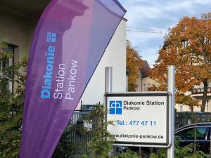 Beachflag Diakonie-Station Pankow