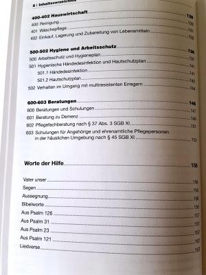 """Inhaltsverzeichnis Teil 3 """"Arbeitshilfen für Pflegende"""""""