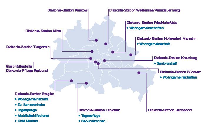 Diakonie-Stationen des Diakonie-Pflege Verbundes Berlin